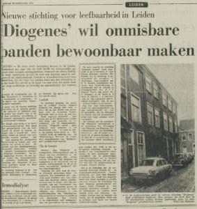 Een artikel uit het Leidsch Dagblad van 26 februari 1973