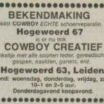 Advertentie De Cowboy uit 1980