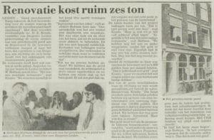 Een artikel in het Leidsch Dagblad van 1 juli 1980