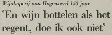Interview in het Leidsch Dagblad van 13 april 1983