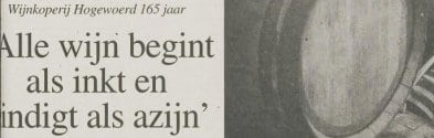 Interview in het Leidsch Dagblad van 23 april 1998