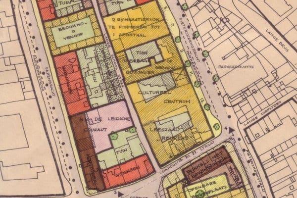 Een deel van het saneringsplan van de Pieterswijk uit 1962