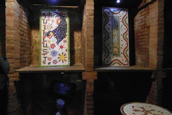En mozaïeken van Lieske van der Laan.