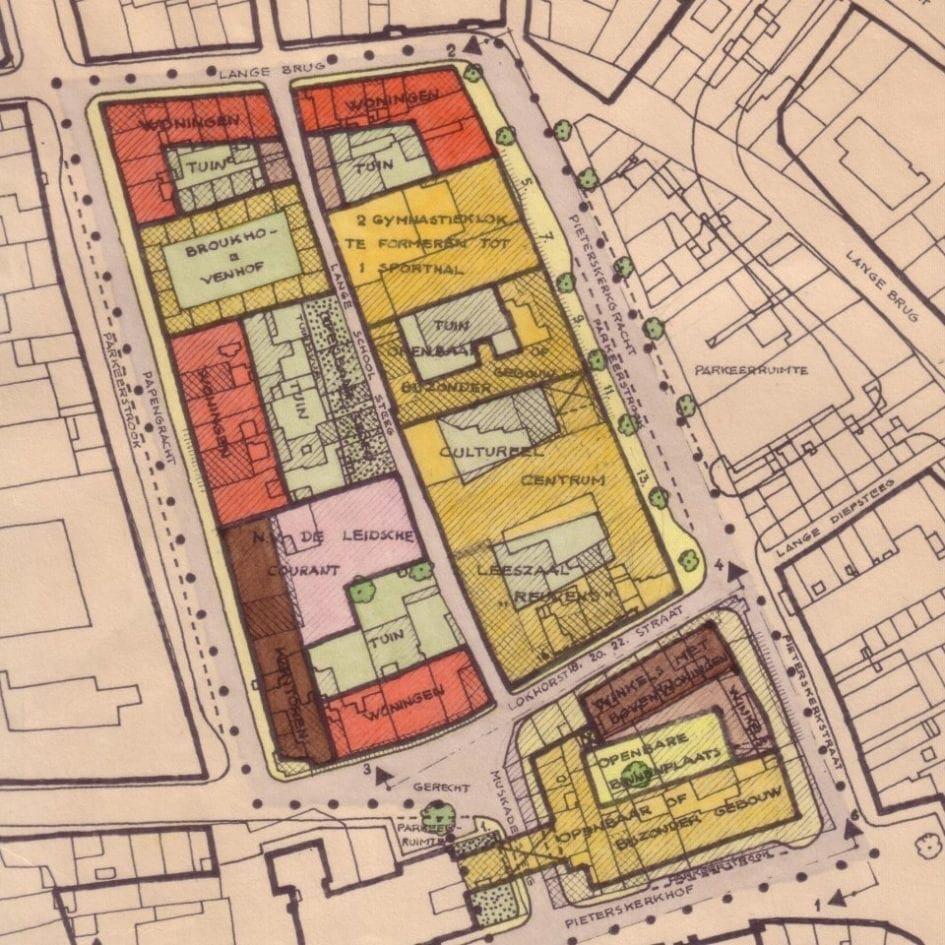 Volgens een saneringsplan uit 1962 moesten de Lokhorststraatpanden worden gesloopt.
